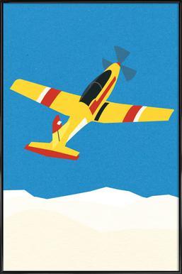 Pilatus PC-7 Solo Display -Bild mit Kunststoffrahmen
