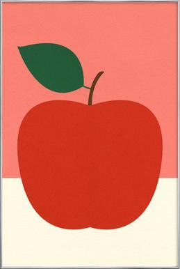 Red Apple Poster in Aluminium Frame