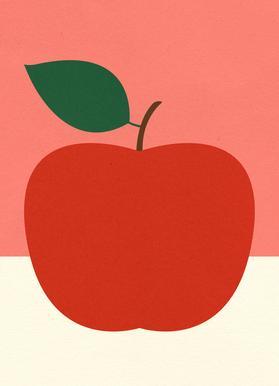 Red Apple canvas doek