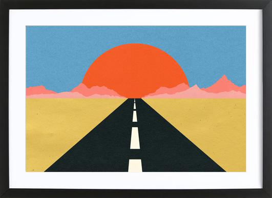Road to Sun Framed Print