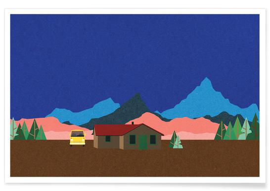 Sierra Nevada Mountain Hut poster