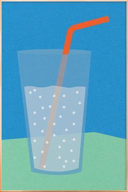 Sparkling Lemonade poster in aluminium lijst