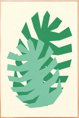 Two Palm Leaves poster in aluminium lijst