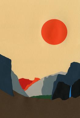 Yosemite Valley acrylglas print
