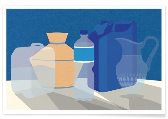 5 Wasserbehälter poster