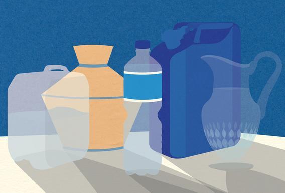 5 Wasserbehälter alu dibond