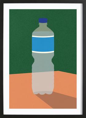 Wasserflasche ingelijste print