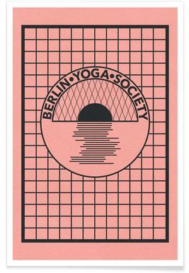 Berlin Yoga Society Poster