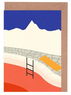 Mountain Yoga Retreat Greeting Card Set