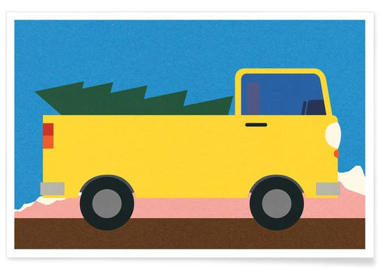 Truck & Tree Poster