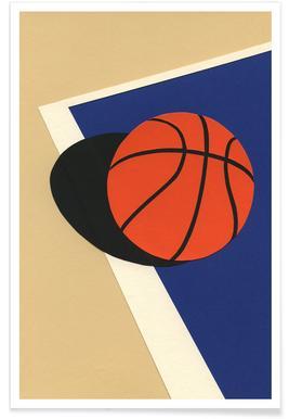Oakland Basketball Team - Premium Poster