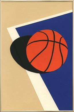 Oakland Basketball Team poster in aluminium lijst