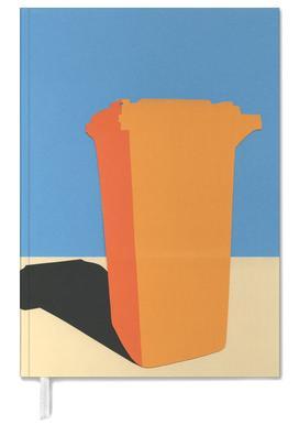 Orange Garbage Bin