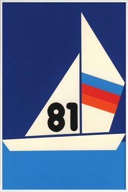 Sailing Regatta 81 - Poster in Standard Frame