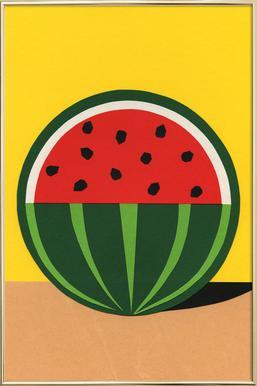 Three Quarter Melon poster in aluminium lijst