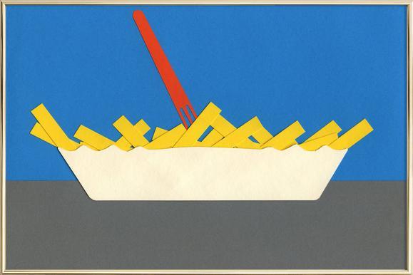 Waterpark Fries poster in aluminium lijst