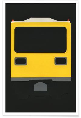 Berlin Subway Car GI E1 poster