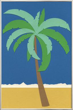 Desert Palm poster in aluminium lijst