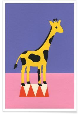 Giraffe Aloopi - Premium poster