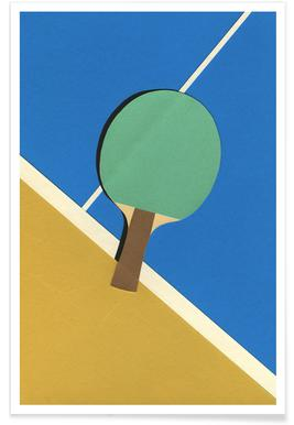 Table Tennis Team Green poster