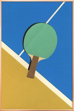 Table Tennis Team Green poster in aluminium lijst