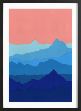 Blue Mountains ingelijste print