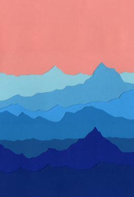Blue Mountains acrylglas print