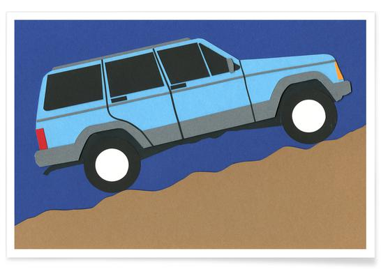 Blue SUV Poster