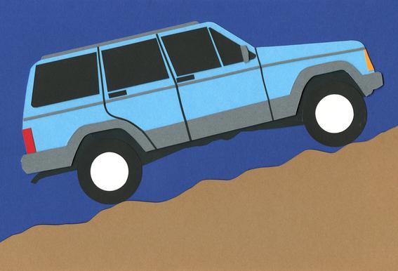 Blue SUV