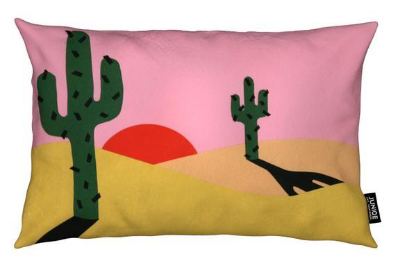 Two Cacti In The Desert Sun
