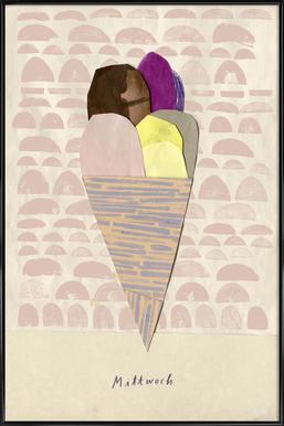 Eis am Mittwoch ingelijste poster
