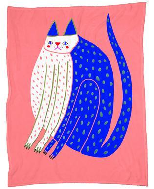 Cat Spotted Fleece Blanket