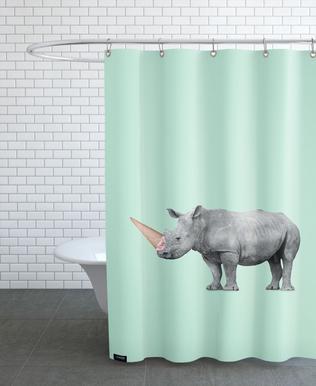 Ice Cream Rhino Shower Curtain