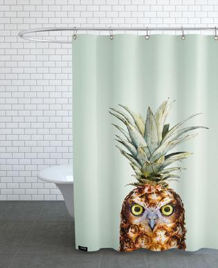 Pineapple Owl Shower Curtain