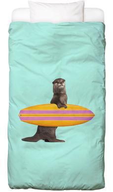 Surfing Otter housse de couette enfant