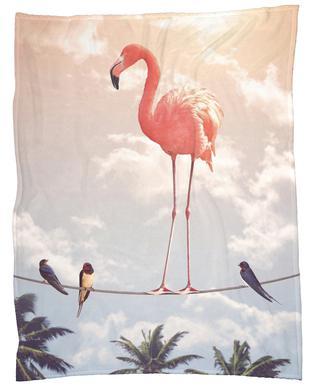 Flamingo and Friends Fleece Blanket