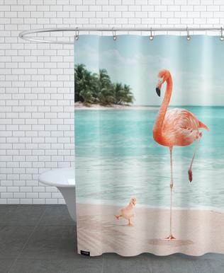 Wannabe Flamingo Shower Curtain