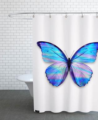 Holographic Butterfly Shower Curtain