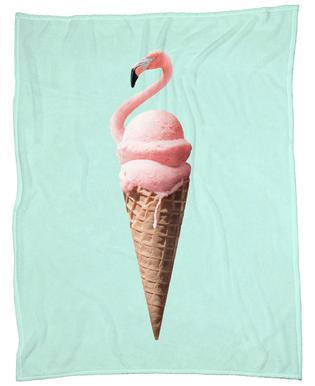 Flamingo Cone Fleece Blanket