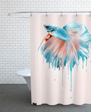 Melting Fish Shower Curtain