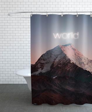 World -Duschvorhang