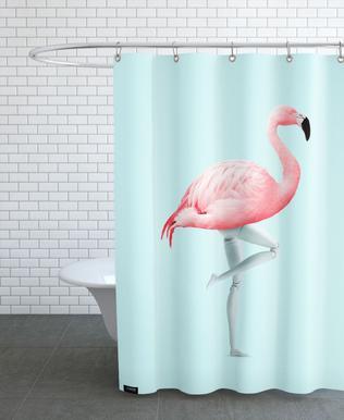 Flamingo Mannequin Shower Curtain