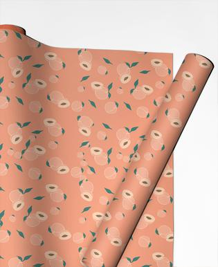 Peach Party Gift Wrap