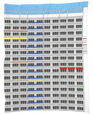 Plattenbau Berlin Fleece Blanket
