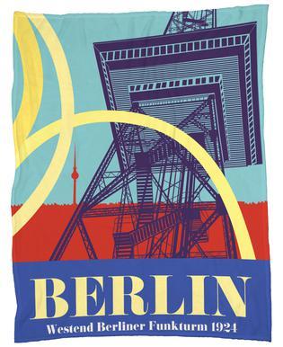 Berlin Funkturm Fleece Blanket