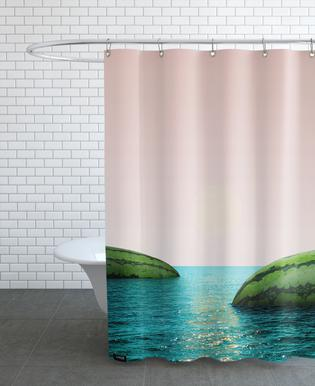 Melon Shore Shower Curtain