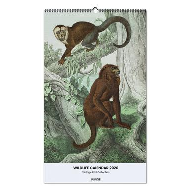 Wildlife Calendar 2020 - Vintage Print Collection Wall Calendar