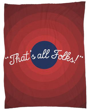 That's All Folks Fleece Blanket