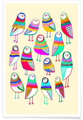 Owl Pattern 1 Poster