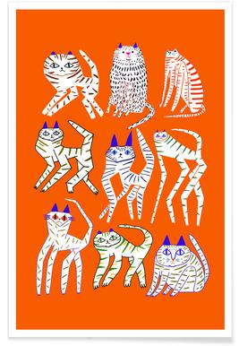 Cats 9 Orange poster